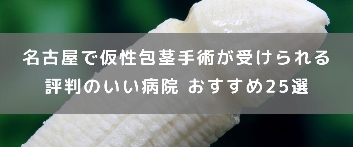名古屋で仮性包茎手術が受けられる評判のいい病院 おすすめ25選
